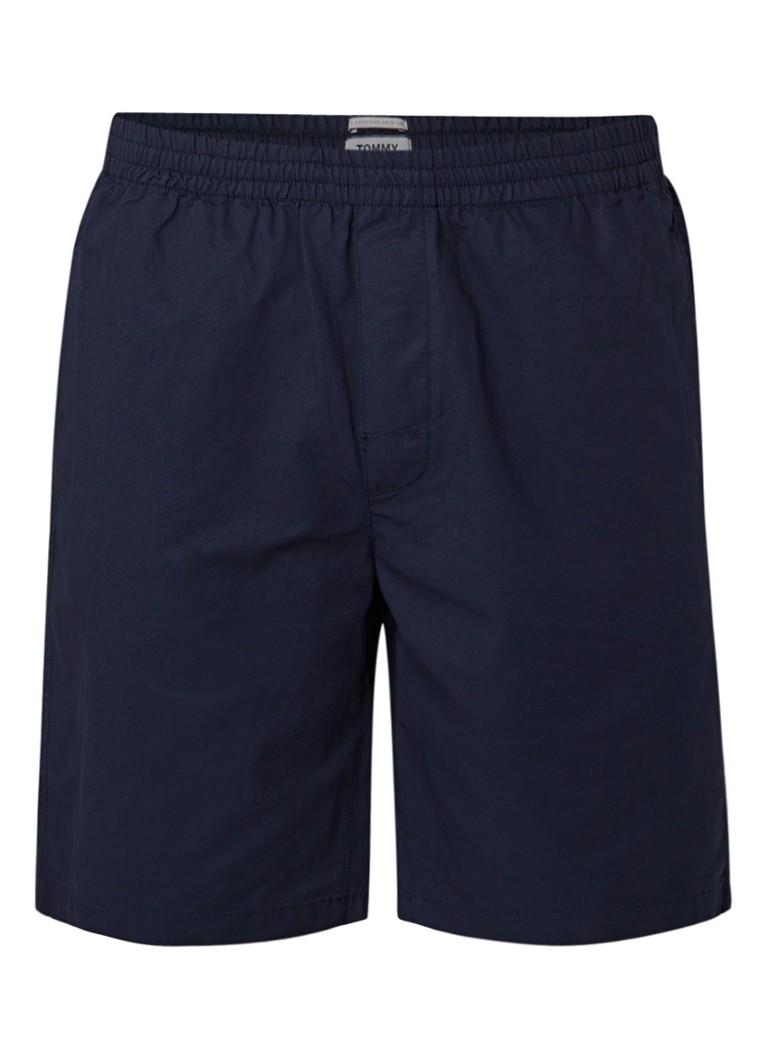 Tommy Hilfiger Basketbal shorts van katoen met elastische tailleband