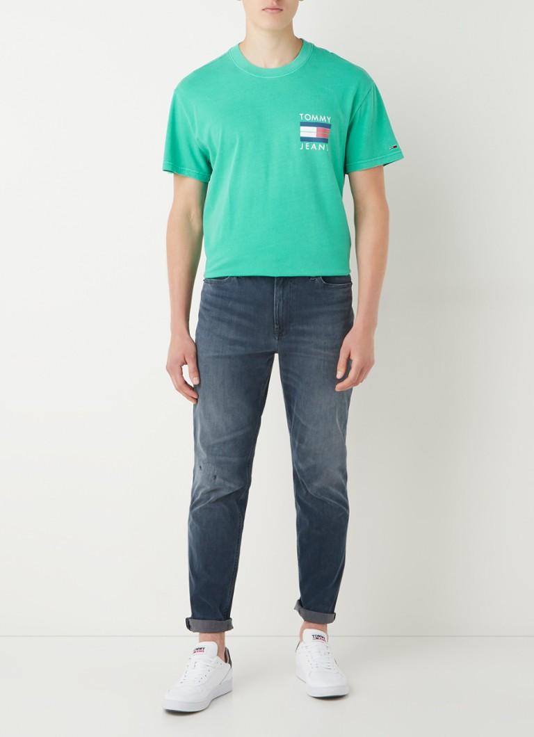 Tommy Hilfiger T-shirt van biologisch katoen met front- en backprint