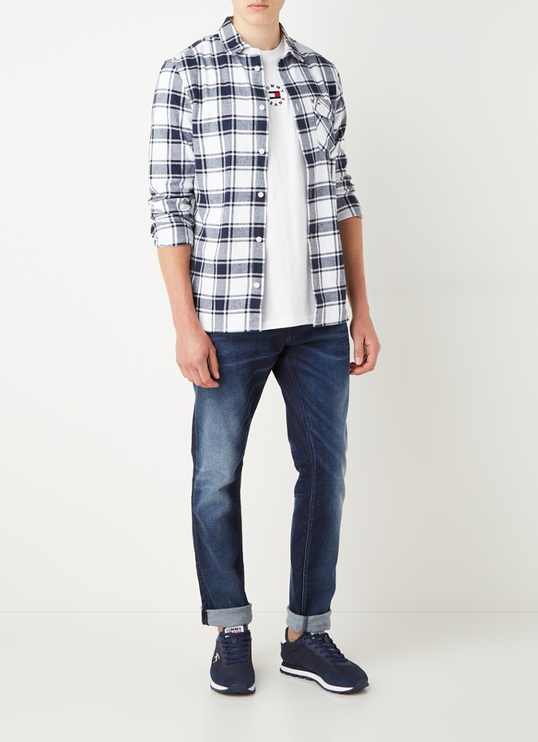 Tommy Hilfiger Scanton slim fit jeans met donkere wassing