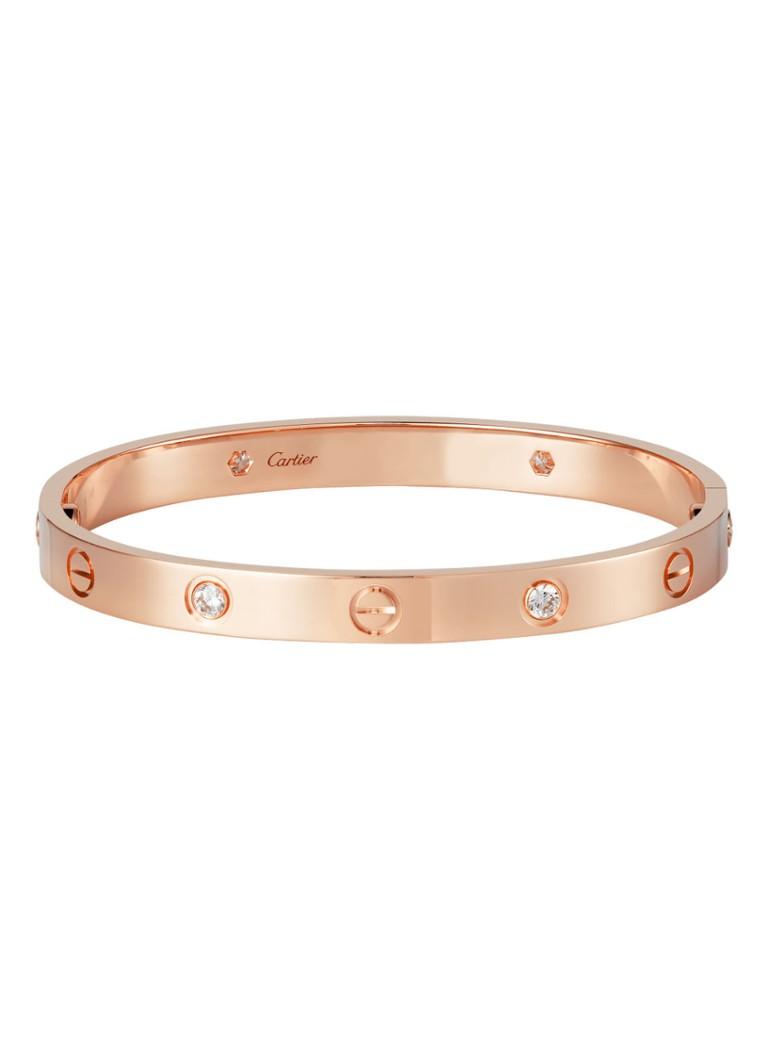 Cartier Love armband van 18k rosegoud met 4 diamanten B6036000