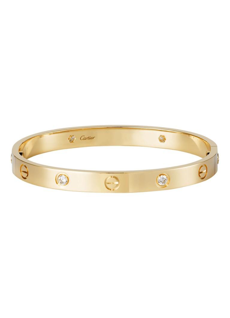 Cartier Love armband van 18k geelgoud met 4 diamanten B6035900