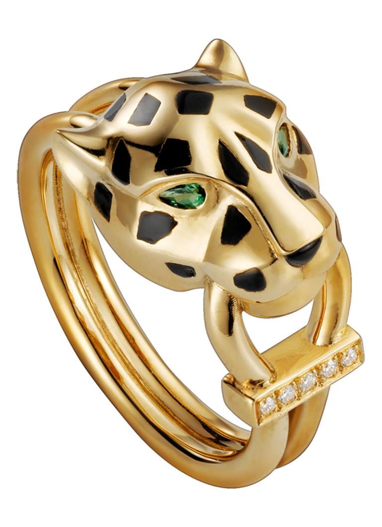 Cartier Panthere de Cartier ring van 18k geelgoud met diamanten B4096700