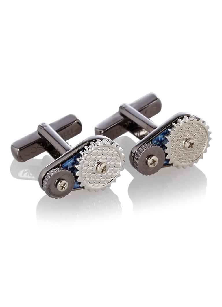 Thompson Manchetknopen Turbine Wheel in zilver