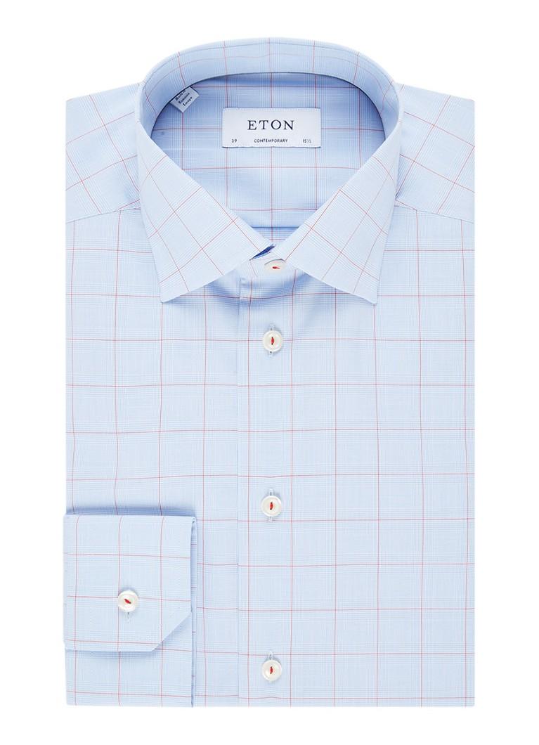 Eton Contemporary fit overhemd met ruitdessin