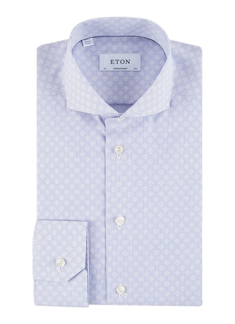 Eton Contemporary fit overhemd met dessin