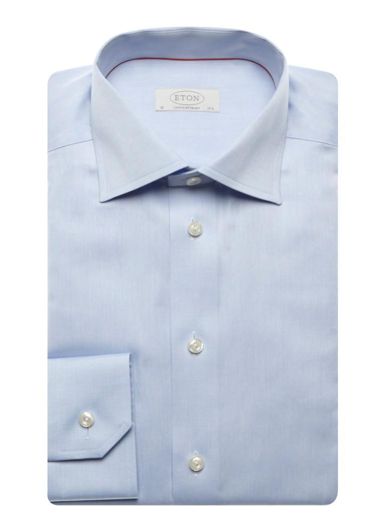 Eton Strijkvrij overhemd met cut away kraag