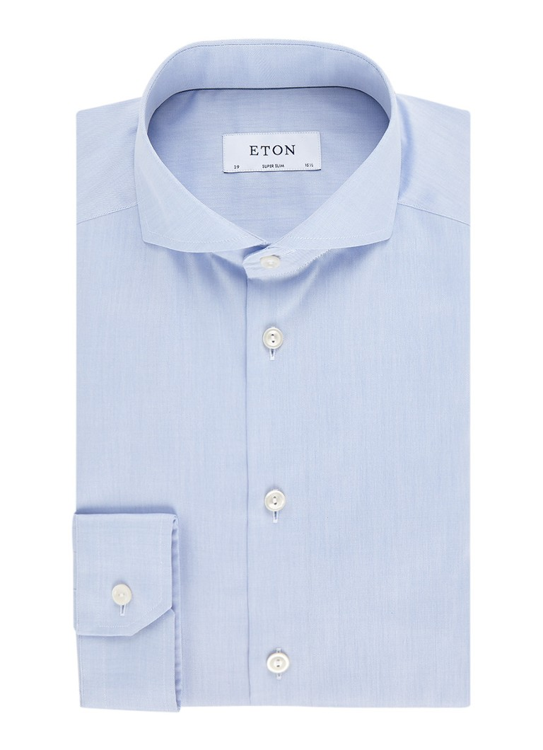 Eton Super slim fit overhemd in twill-weving