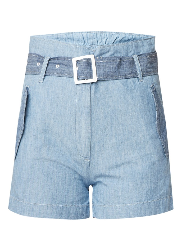 G-Star RAW Rovic high rise wide fit paperbag denim shorts