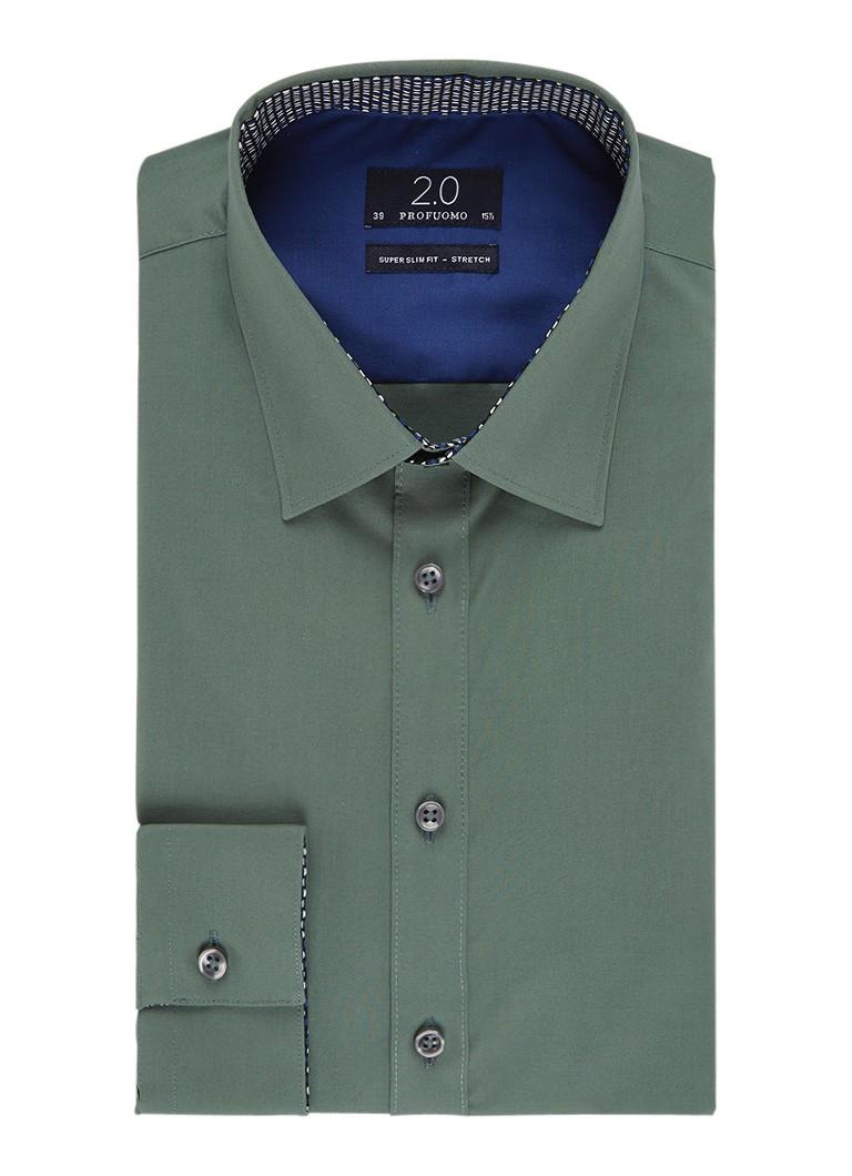 Profuomo Super slim fit overhemd met stretch