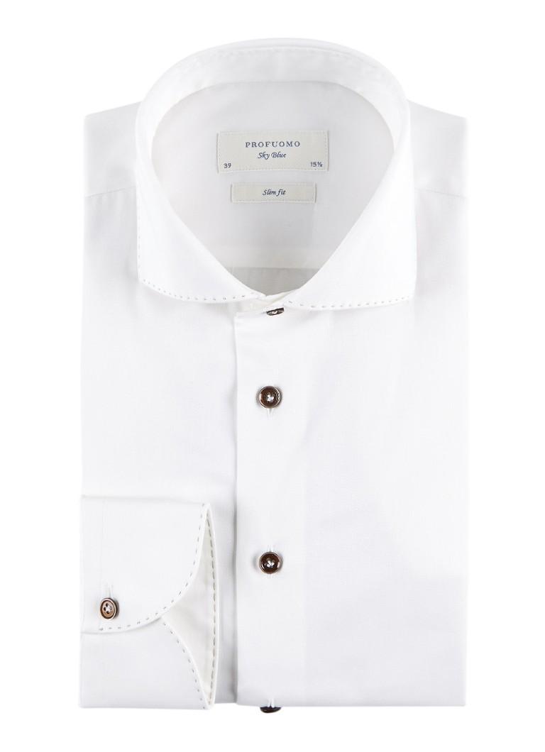 Profuomo Slim fit overhemd met stretch