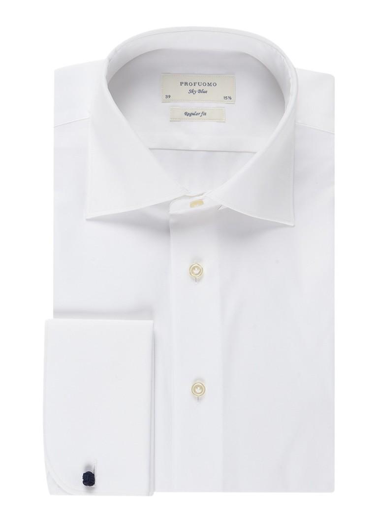 Profuomo Regular fit smoking overhemd met dubbele manchet