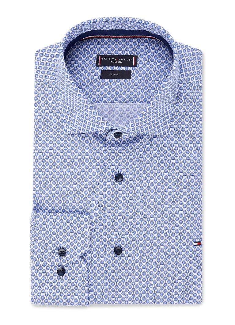 Image of Tommy Hilfiger Classic slim fit overhemd met dessin