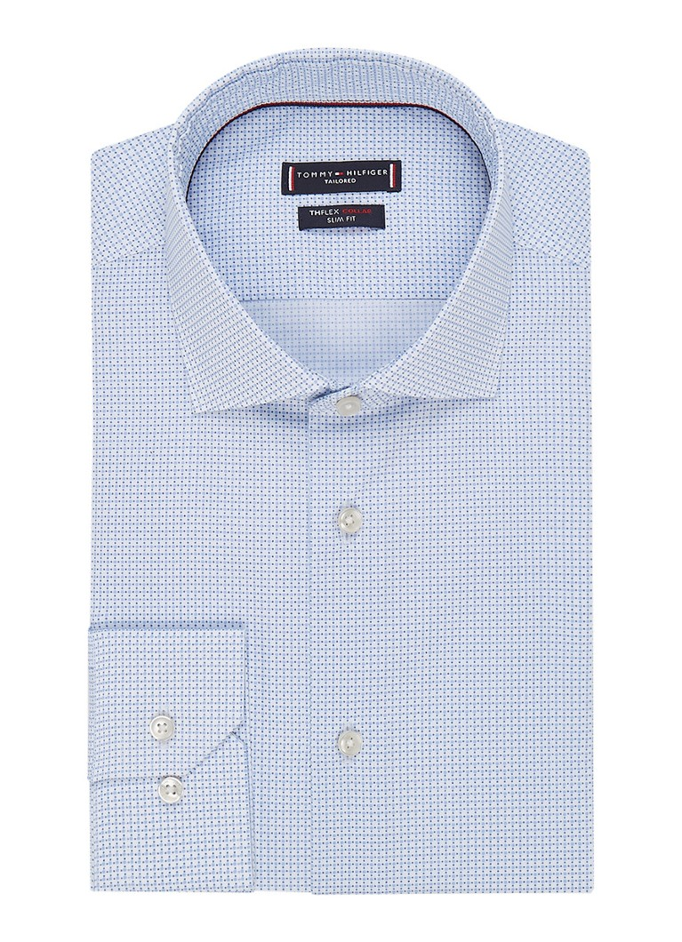 Image of Tommy Hilfiger The Flex slim fit overhemd met micro dessin