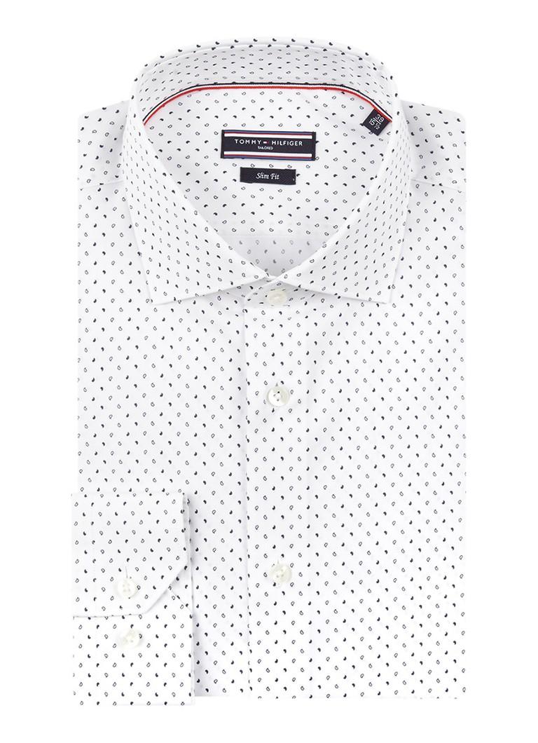 Tommy Hilfiger Slim fit overhemd met micro paisley dessin