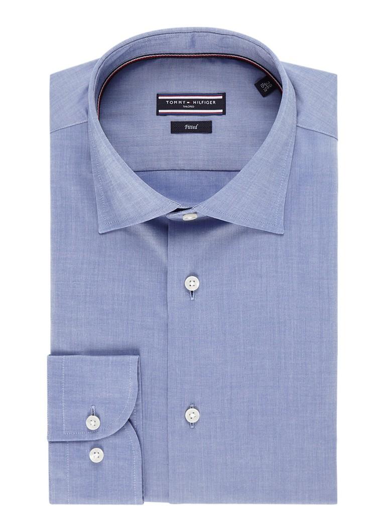 Tommy Hilfiger Slim fit chambray overhemd van katoen