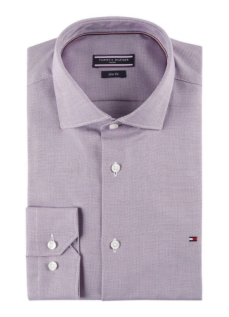 Tommy Hilfiger Slim fit overhemd met micro dessin