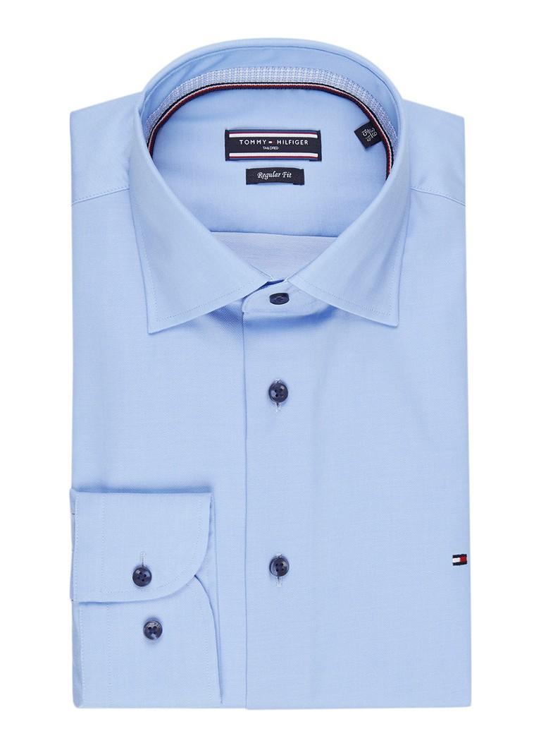 Tommy Hilfiger Easy Iron regular fit overhemd van katoen