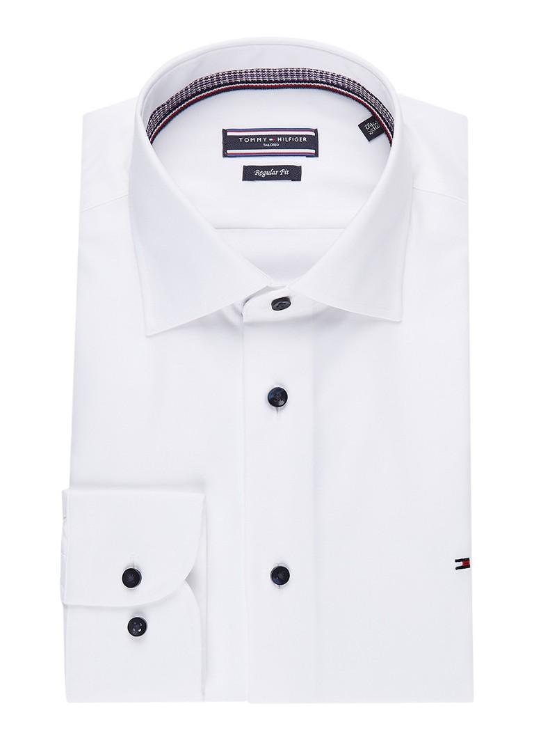 Tommy Hilfiger Regular fit easy iron overhemd met extra lange mouwen