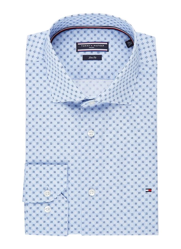 Tommy Hilfiger Slim fit easy iron overhemd met extra lange mouwen