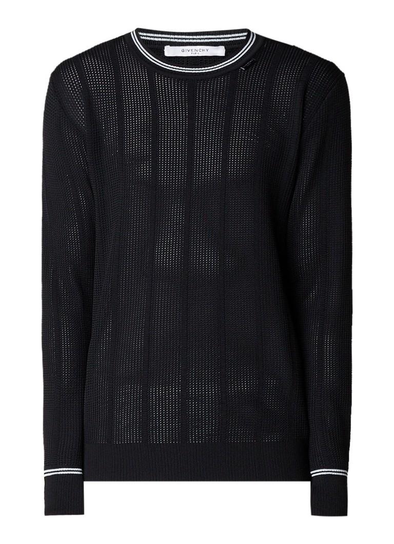 Givenchy Fijngebreide trui met gestreepte boorden
