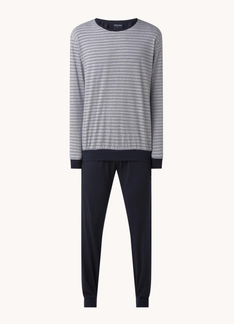 Schiesser Pyjamaset van jersey met print