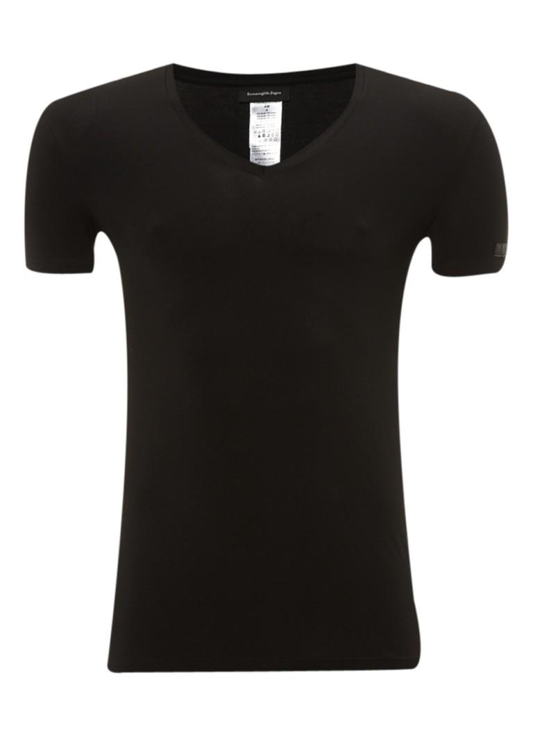 Ermenegildo Zegna Zwart T-shirt met V-hals
