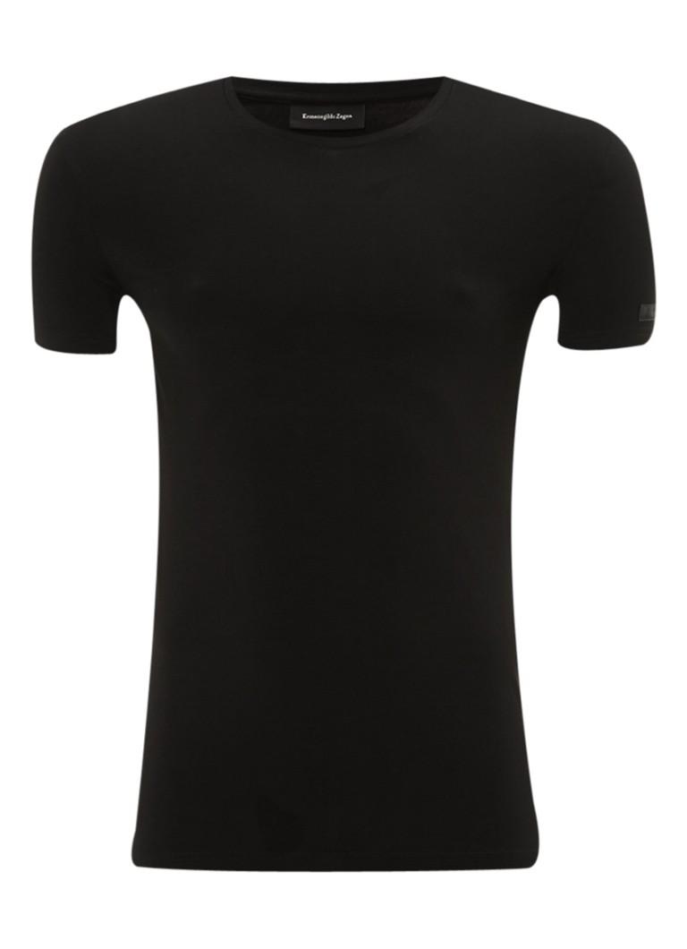 Ermenegildo Zegna Zwart T-shirt met ronde hals