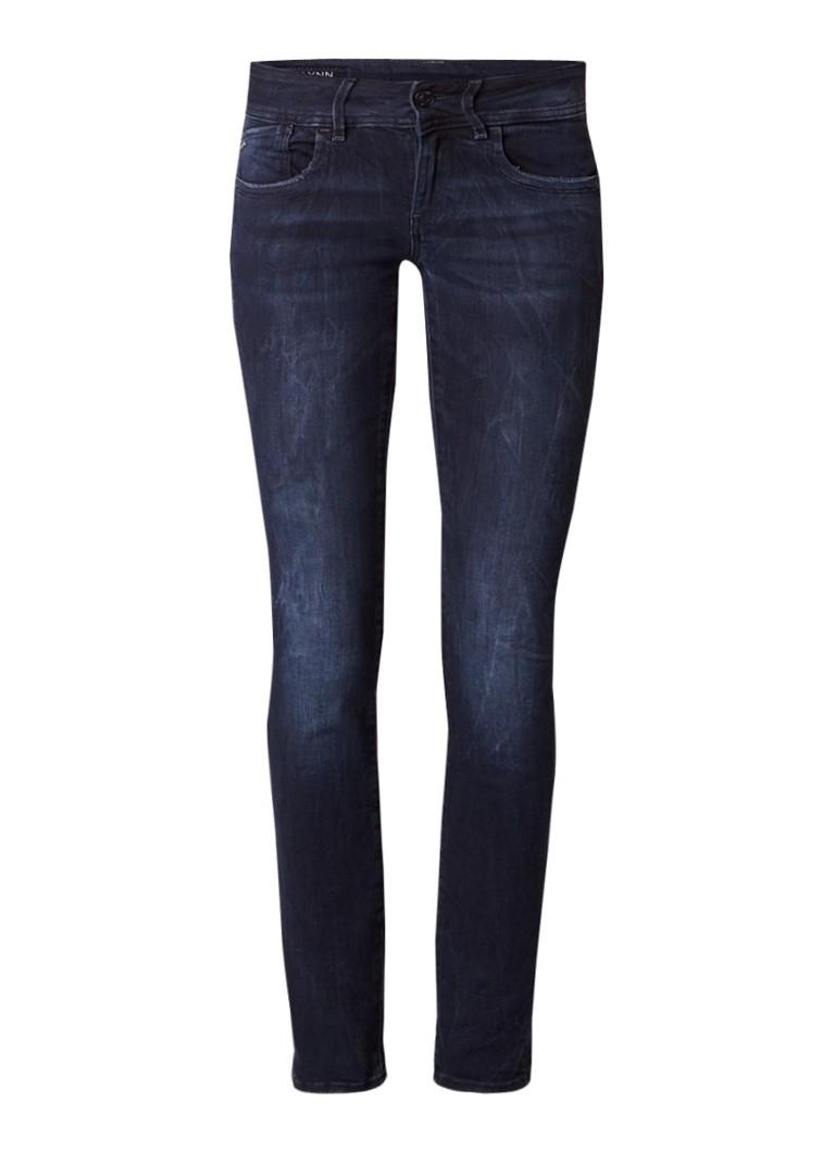 G-Star RAW Lynn mid rise skinny fit jeans met verwassen afwerking