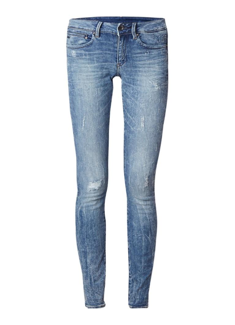 G-Star RAW Midge mid rise destroyed skinny jeans met ritszakken