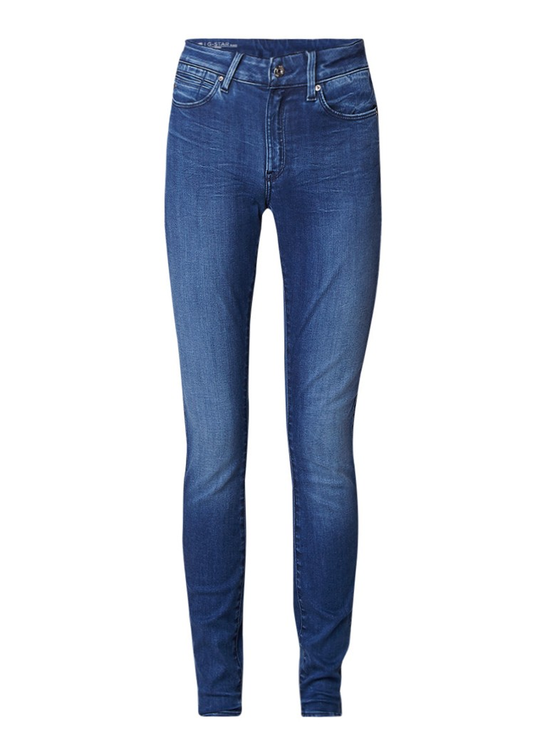 G-Star RAW Shape high rise super skinny jeans met faded look