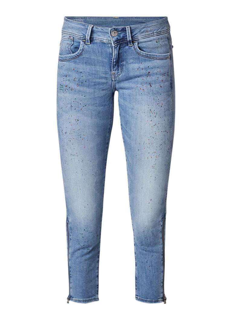 G-Star RAW Lynn mid rise capri jeans met verfspetters