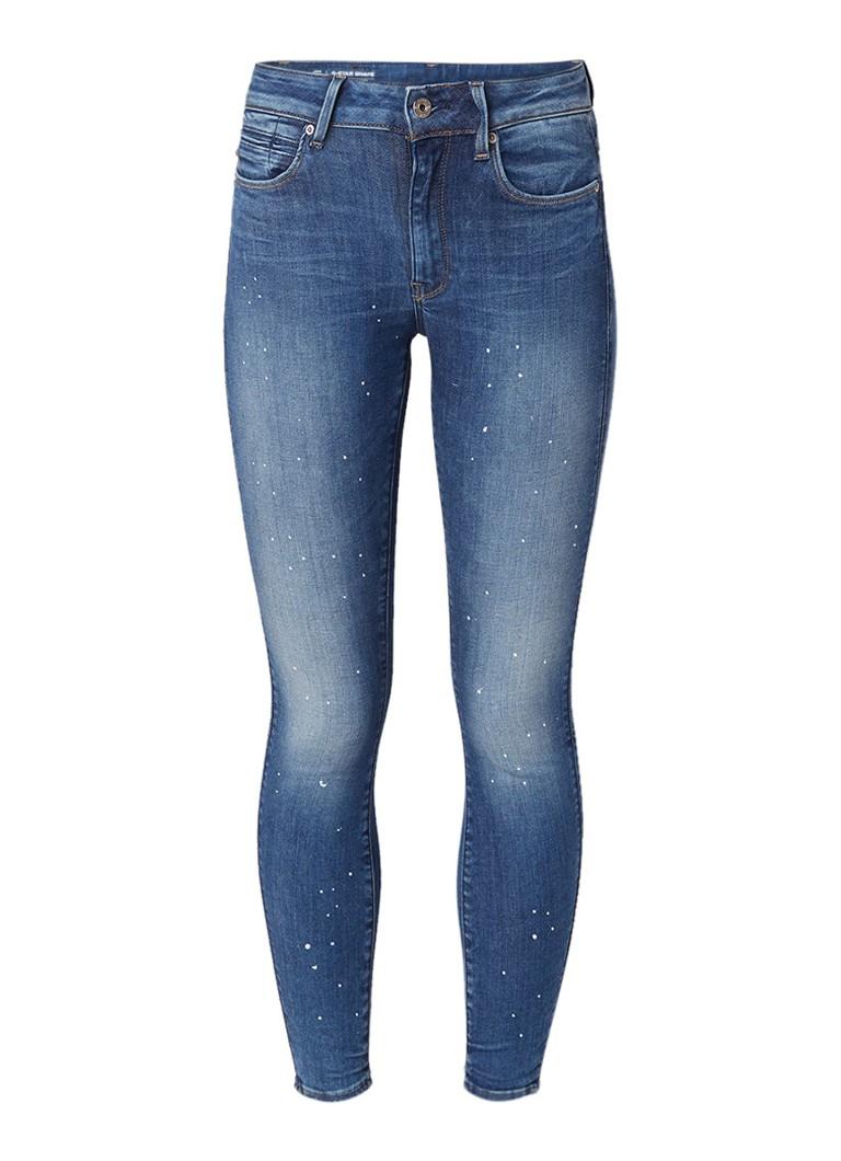 G-Star RAW Shape high rise skinny fit jeans met verfspetters