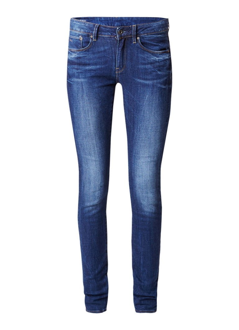 G-Star RAW 3301 high rise skinny jeans met faded wassing