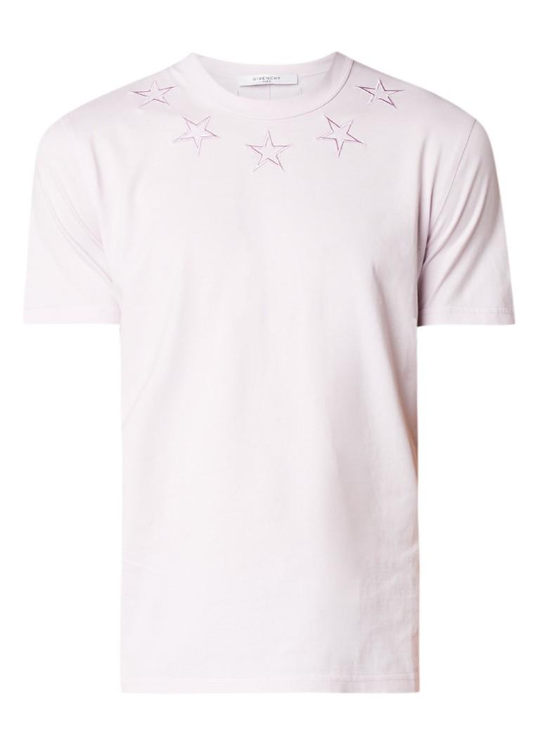 Givenchy Cuban fit T-shirt met geborduurde sterren
