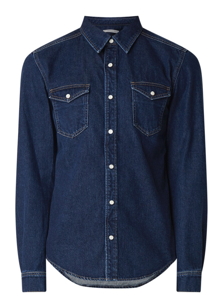 Givenchy Regular fit overhemd van denim met logobies