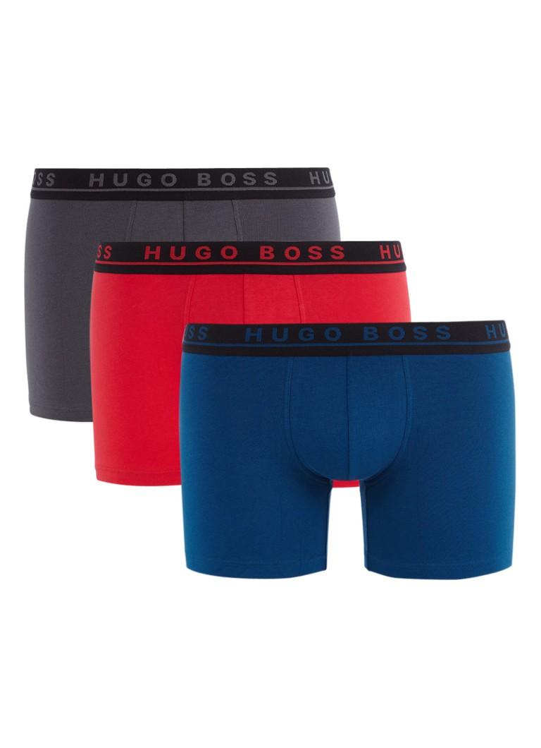 HUGO BOSS Boxershorts in uni in 3-pack