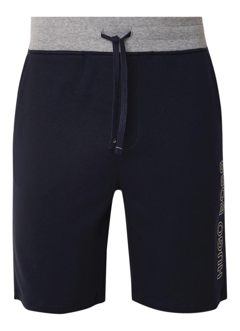 HUGO BOSS Shorts met elastische taille en logoprint