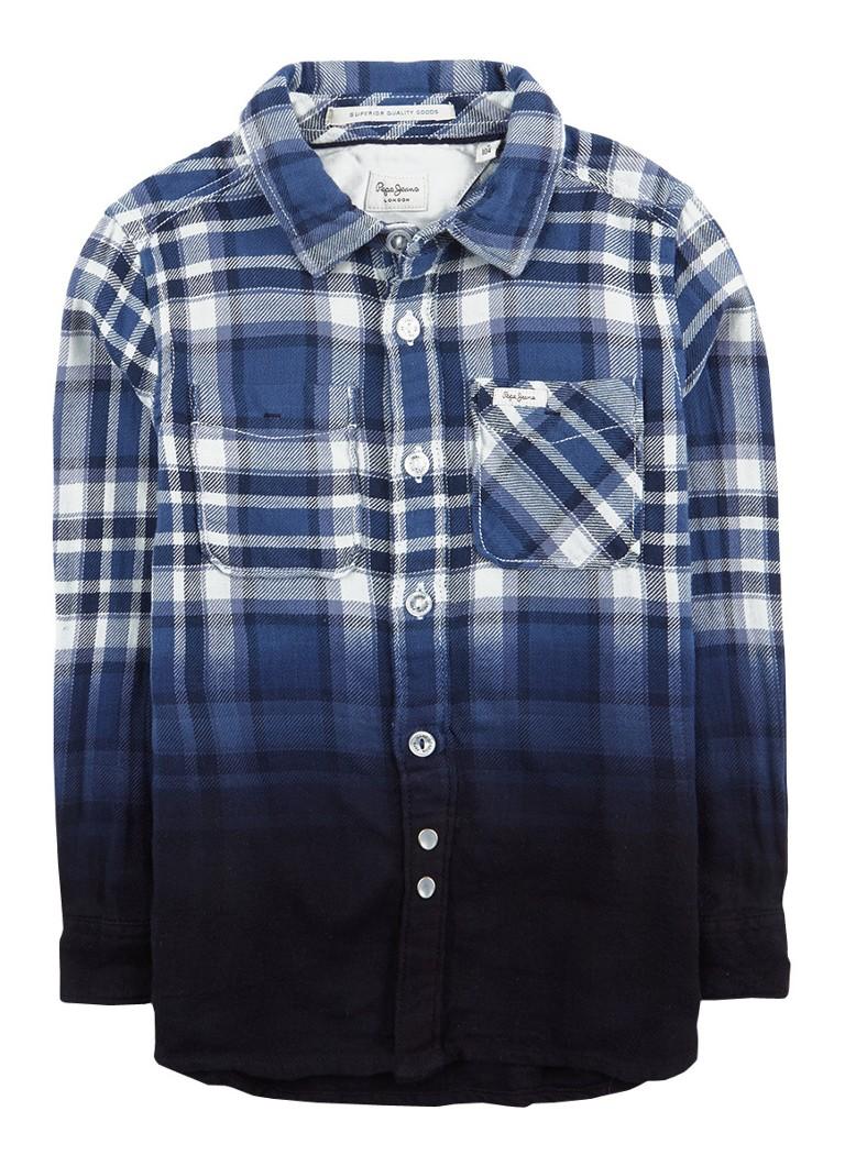 Pepe Jeans Damon overhemd met ombre ruitdessin