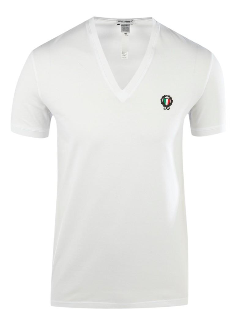 Dolce  and  Gabbana T-shirt met v-hals