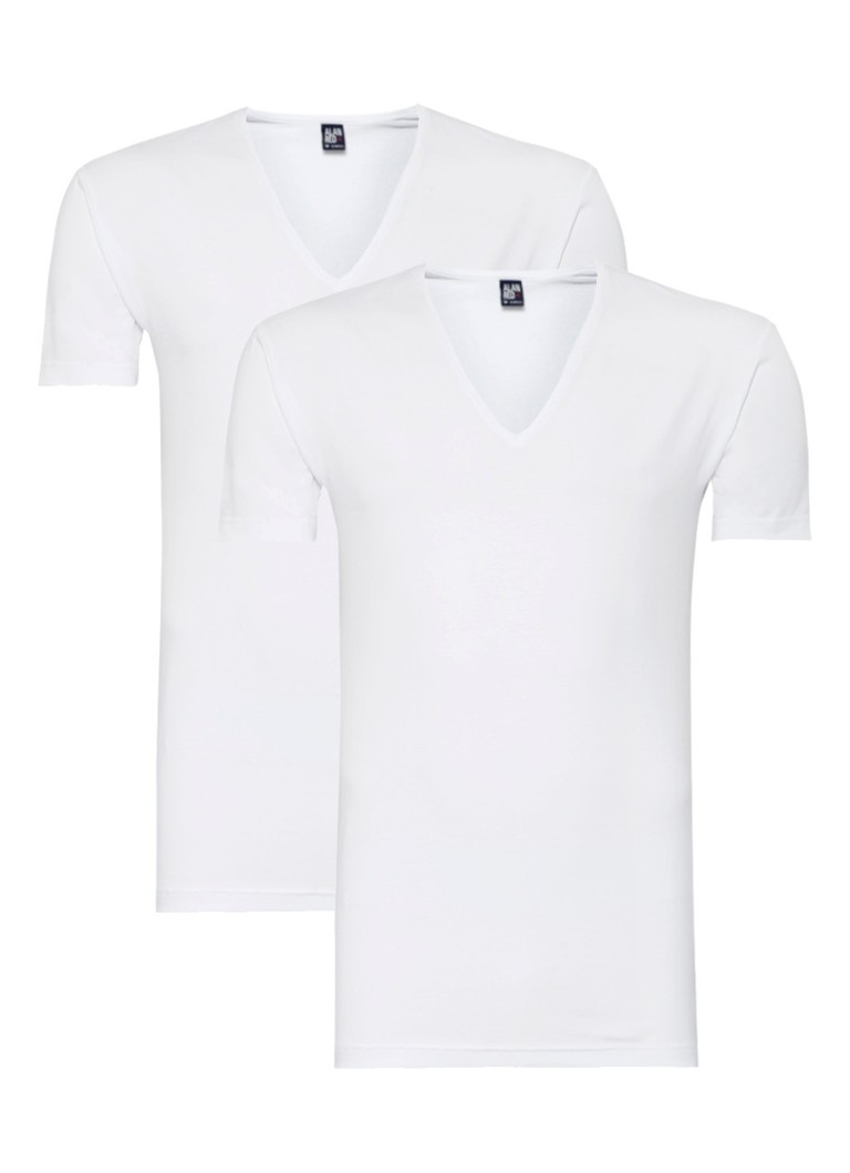 Alan Red 2-pack No Neck T-shirts uni wit