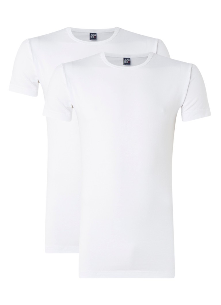 Alan Red Ottawa body fit T-shirt met ronde hals in 2-pack