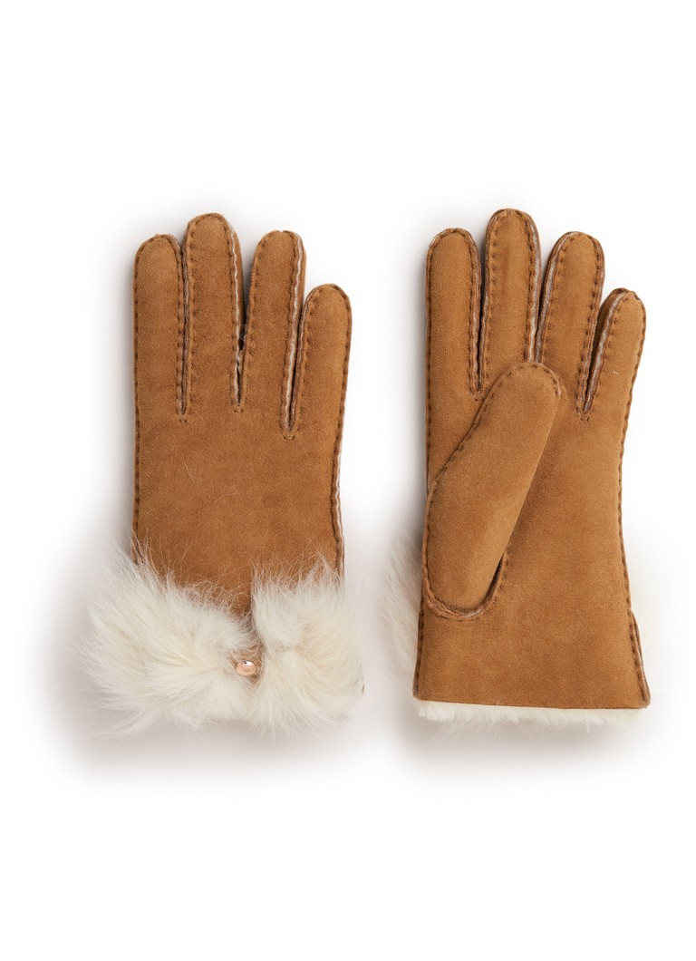 UGG Handschoenen met schapenvacht en strikdetail