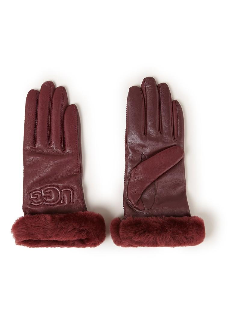 UGG Handschoenen van leer met schapenvacht