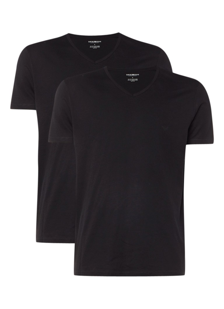 Armani T-shirt in uni in 2-pack