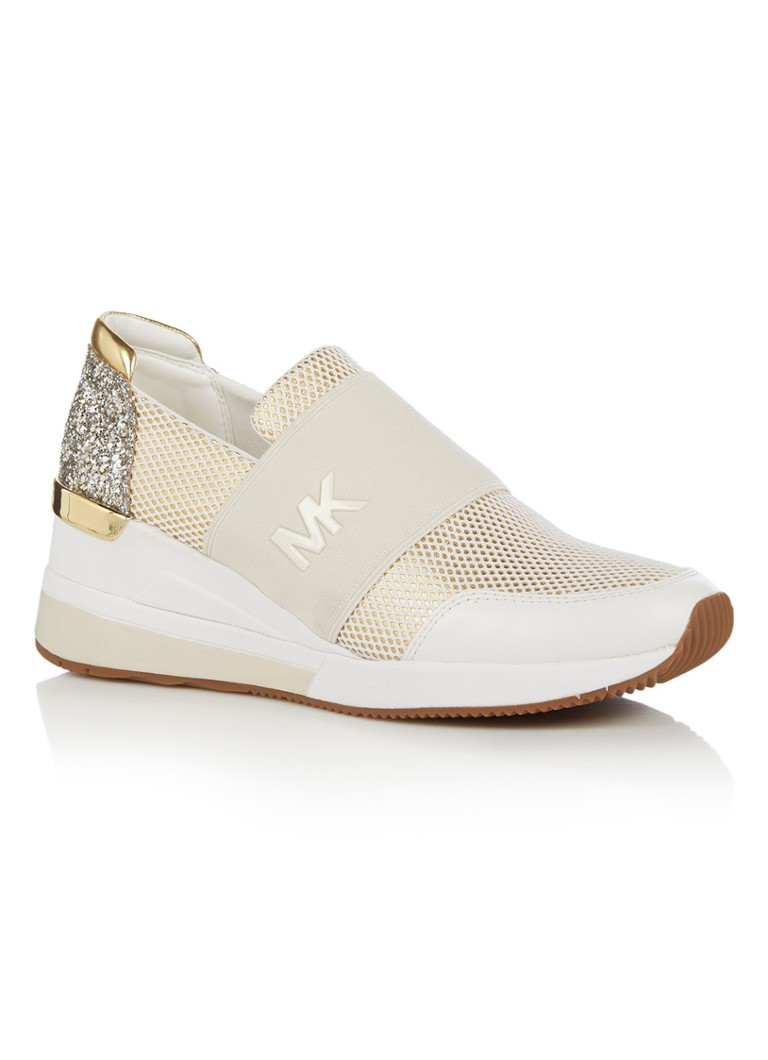 Michael Kors Felix sneakerwedge met glitter