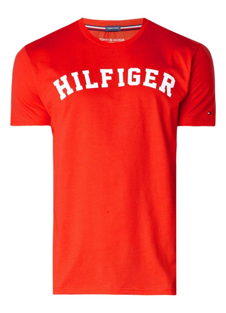 Tommy Hilfiger T-shirt van biologisch katoen met logoprint