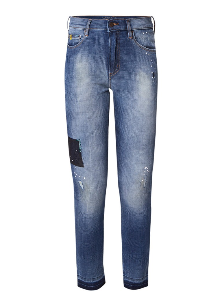 Yoga Jeans Rachel high rise cropped skinny jeans met destroyed details