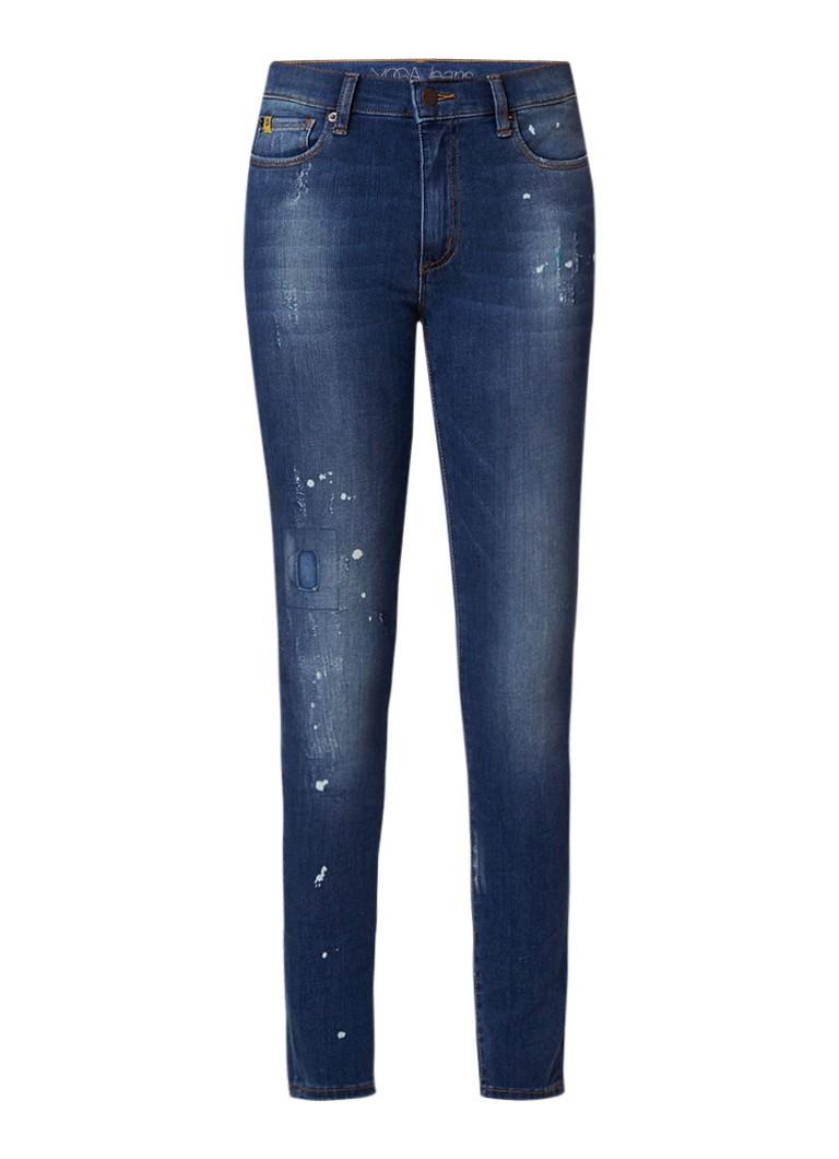 Yoga Jeans Rachel high rise slim fit jeans met destroyed details