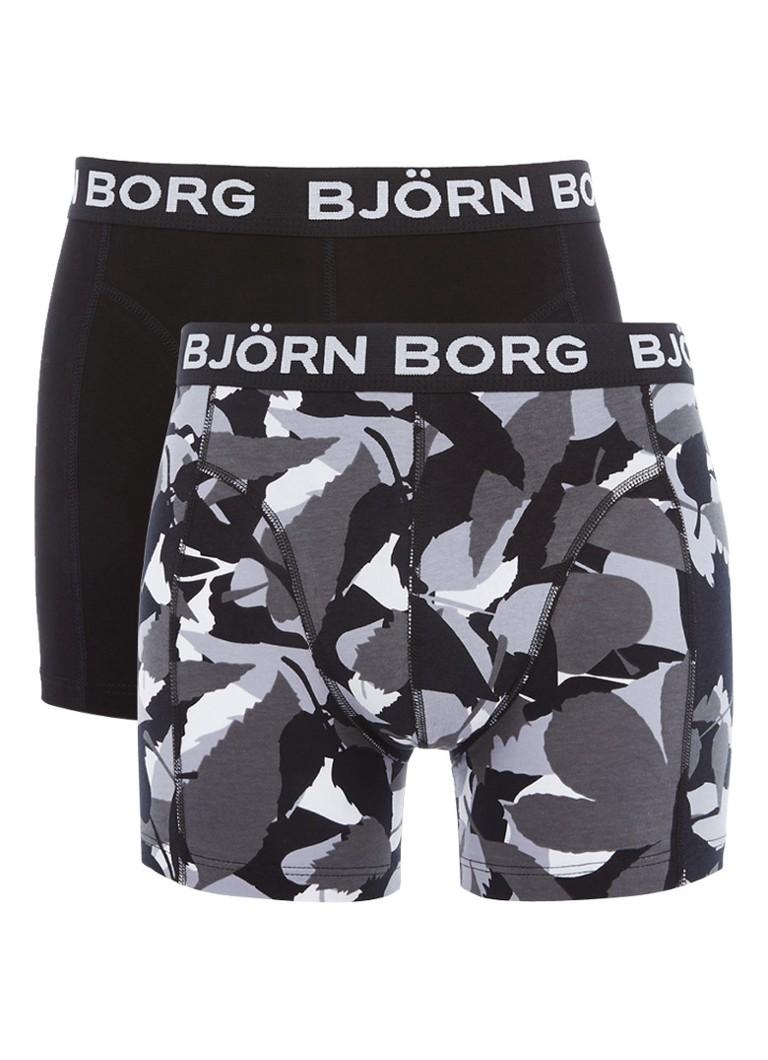 Björn Borg Boxershorts in uni en dessin in 2-pack