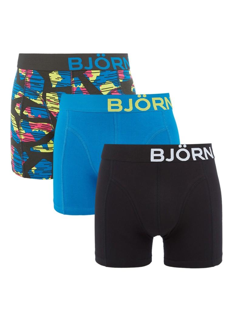 Björn Borg Core boxershorts in uni en dessin in 3-pack